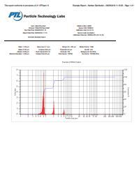 Particle Sizing Systems AccuSizer Model A7000 Sample Report
